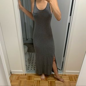 H&M Gray Maxi Dress with Two Slits